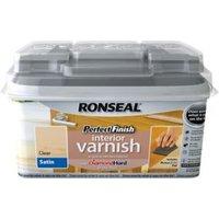 Ronseal Perfect finish Clear Satin Wood varnish  0.75L