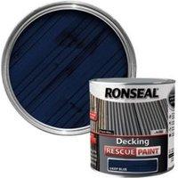 Ronseal Rescue Matt deep blue Decking paint  2.5L
