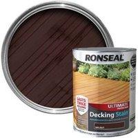 Ronseal Ultimate Walnut Matt Decking Wood stain  5L