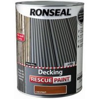Ronseal Rescue Matt chestnut Decking paint  5L