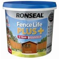 Ronseal Fence life Medium oak Matt Opaque Shed & fence treatment 5L