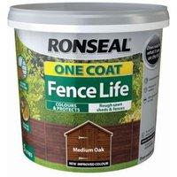 Ronseal One coat fence life   Medium oak Matt Shed & fence treatment 5L