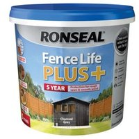 Ronseal Fence life Charcoal grey Matt Opaque Shed & fence treatment 5L