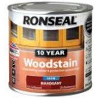 Ronseal Mahogany Satin Wood stain 0.25L.