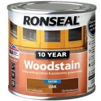 Ronseal Oak Satin Wood stain 0.25L.
