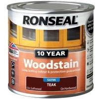 Ronseal Teak Satin Wood stain 0.25L.