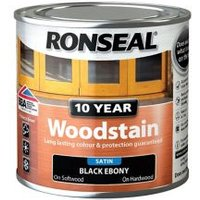Ronseal Ebony Satin Wood stain 0.25L.
