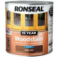 Ronseal Dark oak Satin Wood stain 0.75L.