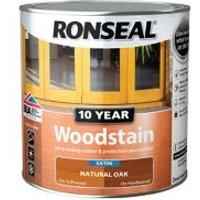 Ronseal Natural oak Satin Wood stain 0.75L.