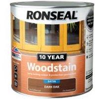 Ronseal Dark oak Satin Wood stain 2.5L.