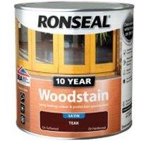 Ronseal Teak Satin Wood stain 2.5L.