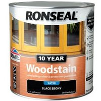 Ronseal Ebony Satin Wood stain 2.5L.