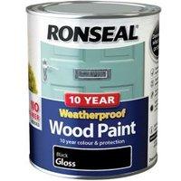 Ronseal Black Gloss Wood paint 0.75L