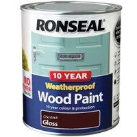 Ronseal Chestnut Gloss Wood paint 0.75L