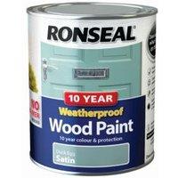 Ronseal Duck egg Satin Wood paint 0.75L