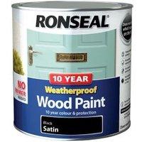 Ronseal Black Satin Wood paint 2.5L