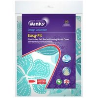 Minky Easy fit Blue Elasticated Ironing board cover (L)122cm (W)38cm