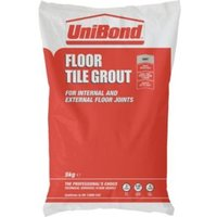 Unibond Rapid Set Grey Powder Grout (W)5kg
