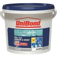 UniBond Ready to use Wall tile adhesive & grout  Ice white 12.8kg