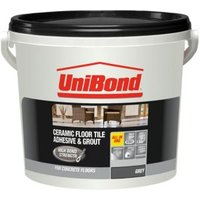 UniBond Ready to use Floor tile adhesive & grout  Grey 7.2kg
