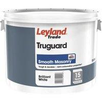Leyland Trade Pure brilliant white Smooth Matt Masonry paint