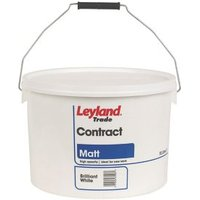Leyland Trade Contract Brilliant white Matt Emulsion paint 10L