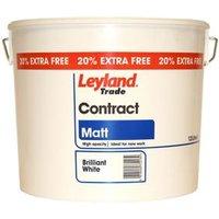 Leyland Trade Contract White Matt Emulsion paint 12L