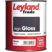 Leyland Trade Black Gloss Metal & wood paint 0.75L