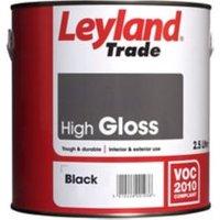 Leyland Trade Black Gloss Metal & wood paint 2.5L
