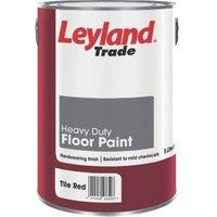 Leyland Trade Heavy Duty Tile Red Satin Floor Paint5L