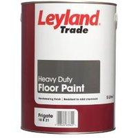 Leyland Trade Heavy duty Frigate grey Satin Floor paint 5L