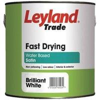 Leyland Trade White Satin Wood & metal paint 2.5L