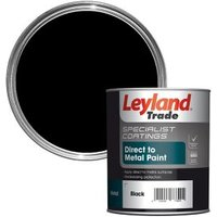 Leyland Trade Specialist Black Semi-Gloss Metal Paint 750 ml