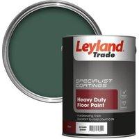 Leyland Trade Heavy duty Empire green Satin Floor & tile paint5L