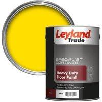 Leyland Trade Heavy Duty Yellow Satin Floor & Tile Paint5L