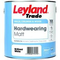 Leyland Trade Brilliant white Matt Emulsion paint 2.5L