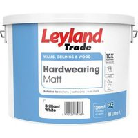 Leyland Trade Brilliant white Matt Emulsion paint 10L