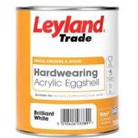 Leyland Trade Brilliant white Eggshell Emulsion paint 750ml