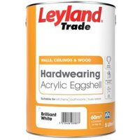 Leyland Trade Brilliant white Acrylic eggshell Emulsion paint 5L