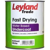 Leyland Trade Brilliant white Metal & wood Undercoat 0.75L
