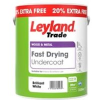 Leyland Trade Fast drying Brilliant white Metal & wood Undercoat 3L