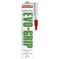 Evo-Stik Evo-grip Solvent-free Acrylic-based White Grab adhesive 350ml