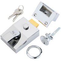 Yale 60mm Chrome effect Night latch P-89-CH-CH-60