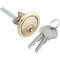 Yale High security Brass-plated Metal Single Rim Cylinder lock  (L)83mm