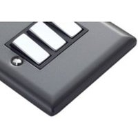 Volex 10A 2-Way Triple Pewter Effect Light Switch