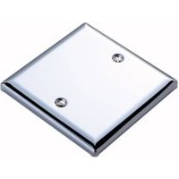 Volex Single Chrome Effect Blanking Plate