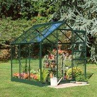 B&Q Metal 6X6 Horticultural Glass Greenhouse