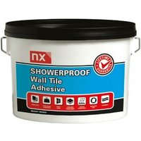 NX Showerproof Ready mixed Off white Wall Tile Adhesive 2.5kg