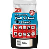 NX Anti-bacterial Ready mixed Golden jasmine Floor & wall Tile Grout 5kg