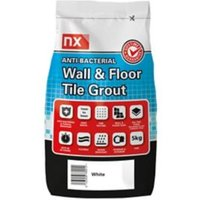 NX Anti-bacterial Ready mixed Arctic white Floor & wall Tile Grout 5kg